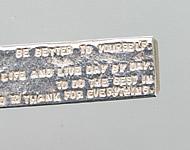 オリジナル刻印メッセージの例1